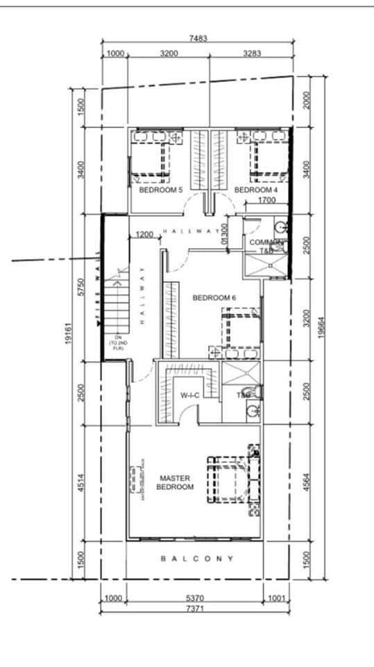 8 Bedroom Townhouse in Tandang Sora, Mindanao Avenue, Quezon City third floor plan