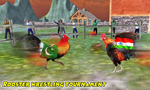 Farm Rooster Fighting: Angry Chicks Ring Fighter  captures d'écran 2