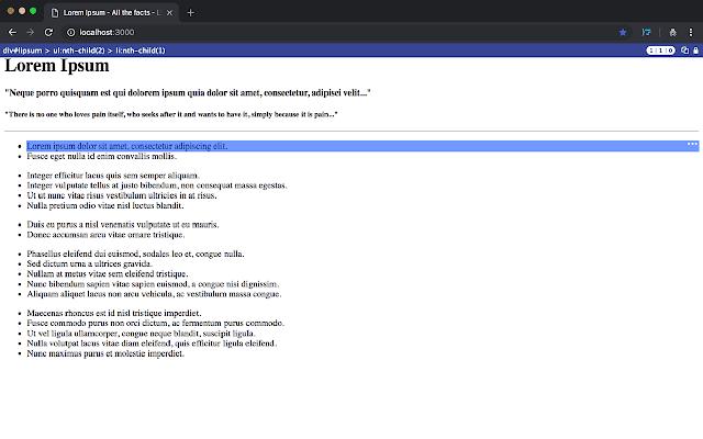 CSS Selector Capture