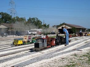 Photo: Deb and Mark Hajek's trains.    SWLS at HALS 2009-1107