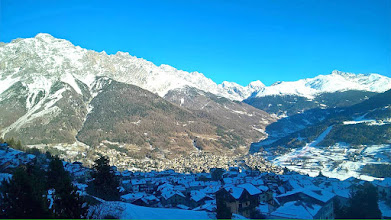 Photo: Panorama invernale su Oga, Bormio e la Valfurva [ph. Michele LEONARDON - thanks!]