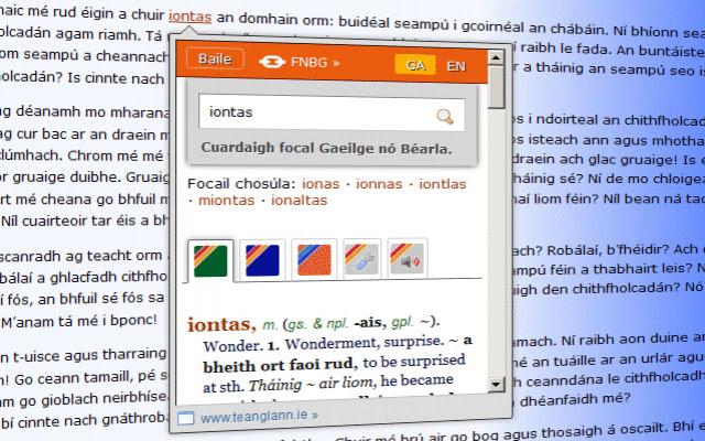 Teanglann.ie - An Foclóirí
