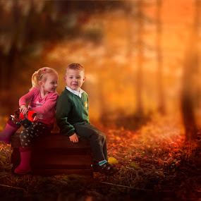 toddlers meeting in a  park by Marek Kuzlik - Babies & Children Toddlers ( child, children portrait, park, meeting, christmas, christmas tree, toddlers )