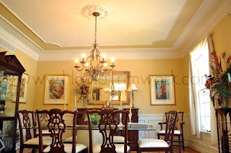 Photo: (After) Flores' Dining room Ceiling: Double panel, inner panel with rounded corners Medford, NJ