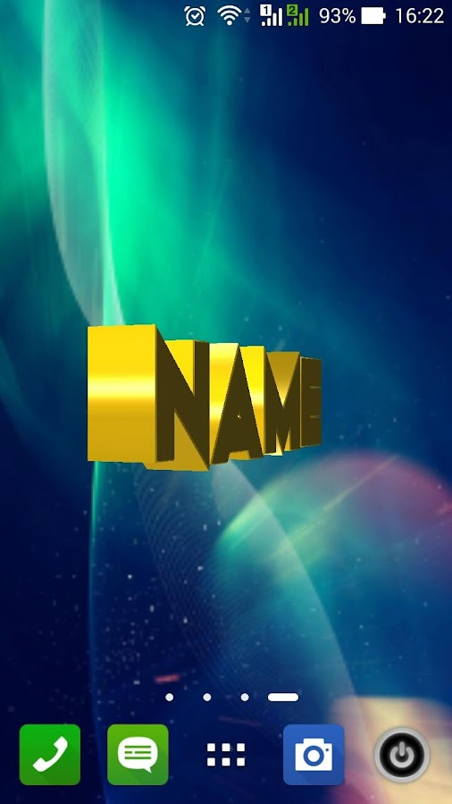 3d my name live wallpaper android apps on google play