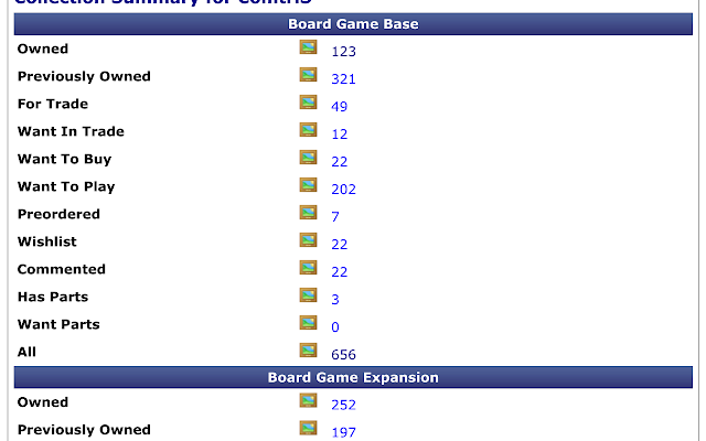 More accurate BGG collection count