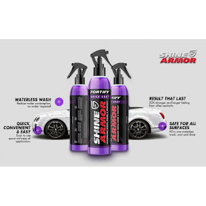 Kit ceara lichida Shine Armor Ceramic Wax, 236 ml + Laveta din microfibra