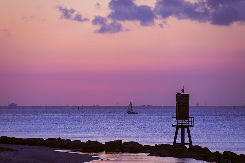Photo: Sail Away  Earworm for you all...  I'm sailing away Set an open course for the Virgin Sea 'Cause I've got to be free Free to face the life that's ahead of me   HAHA! Just kidding. Back to your regularly scheduled songs. :)  #landscape  #landscapephotography  #ocean  #sailboat  #sunset  #Texas   #throughtamseyes
