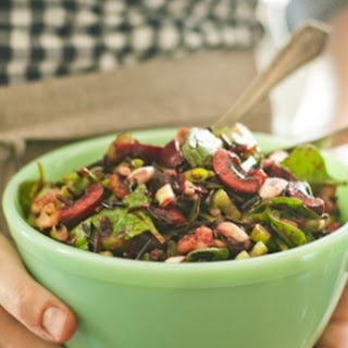 Cherry and Wild Rice Salad with Spinach and Walnuts Recipe
