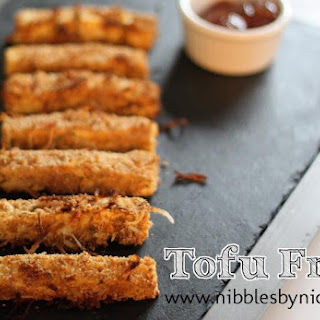 Crispy Coconut Tofu Fries with Spicy Apricot Sauce