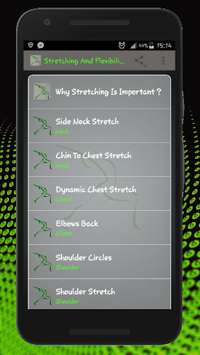 Stretching, Flexibility and Warm Up Exercises screenshot 1