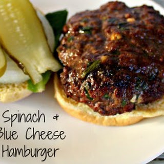 Spinach & Blue Cheese Hambuger Recipe