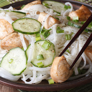 Cold Noodle Salad with Chicken & Cucumbers
