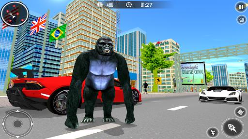 gorilla city simulator - rope hero gorilla game screenshot 3