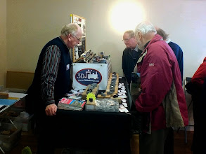 Photo: 003 Chris and Christine Ward brought their very popular range of CWR Railways 3D printed models. Chris has recently invested in a very expensive top of the range state of the art machine which has provided a quantum leap in the quality of 3D printing possible .