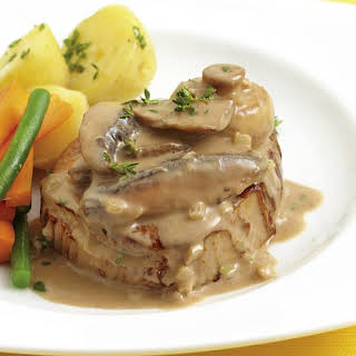 Slow Cooker Beef Steak with Mushroom Gravy.