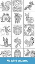 Coloring pages:Animals Mandala - screenshot thumbnail 04