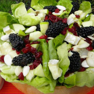 Blackberry Salad with Brie Cheese, Almonds and Cranberries