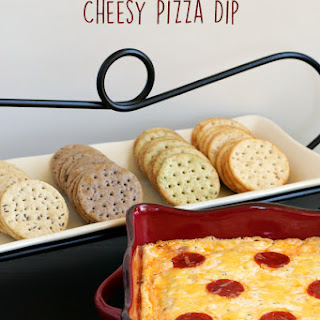 Cheesy Pizza Dip and Crackers {Gluten-free}