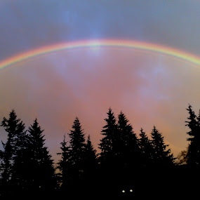 double rainbow north vancouver bc by Scott Hislop - Landscapes Weather
