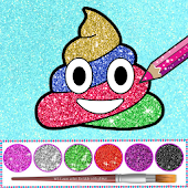 Glitter Emoji Coloring And Drawing Icon