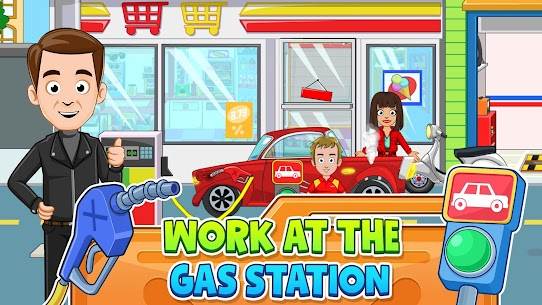 My Town: Car Garage Wash & fix kids car game MOD (Paid Content) 3