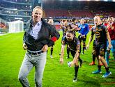 Wouter Vrancken et Francky Dury réagissent après le match Zulte Waregem-KV Malines