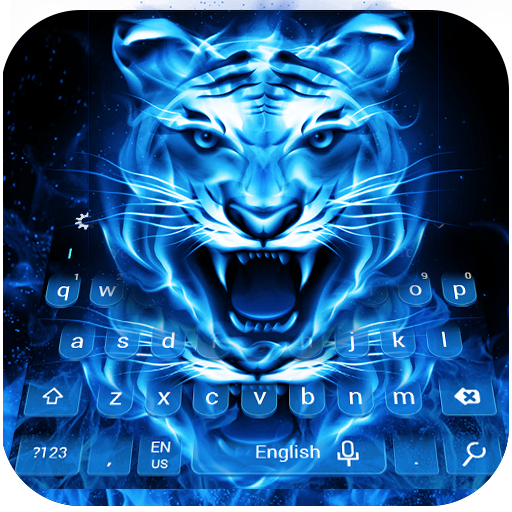 Blue Flame Tiger Keyboard