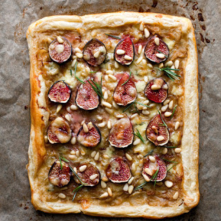 Fig Tart With Caramelized Onions, Rosemary and Stilton