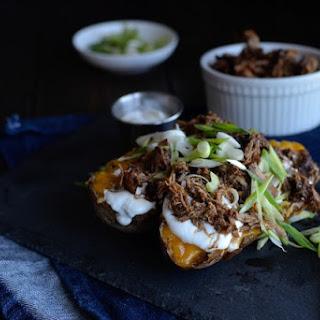 Amazing Adobo Flakes and Baked Potatoes Recipe