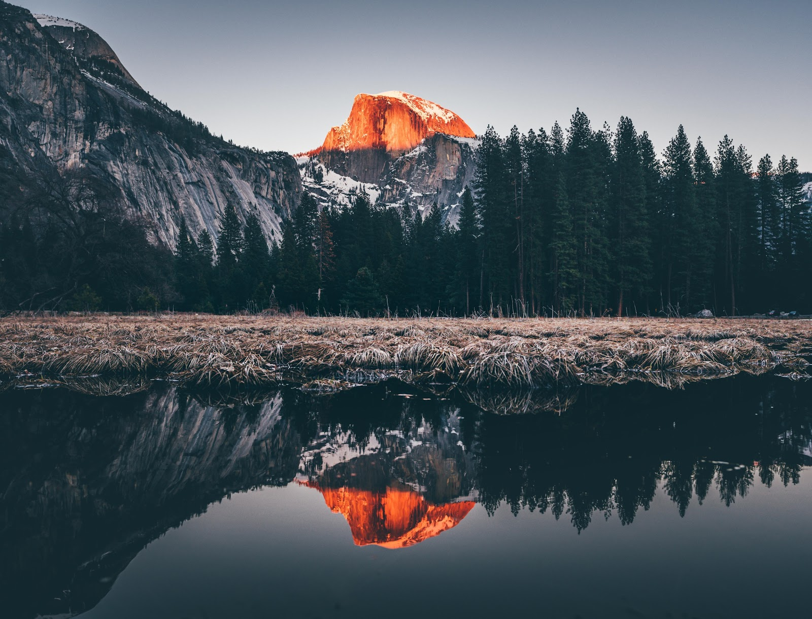 brilliant mountain among the forest