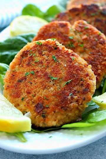 Lemon Garlic Tuna Cakes Recipe