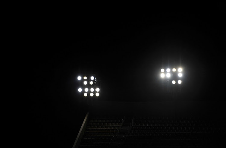 Lights out at the Peter Mokaba Stadium.  Picture: GALLO IMAGES/PHILIP MAETA