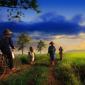 Regard from My Village by Eli Supriyatno - Digital Art People ( indonesia, art )
