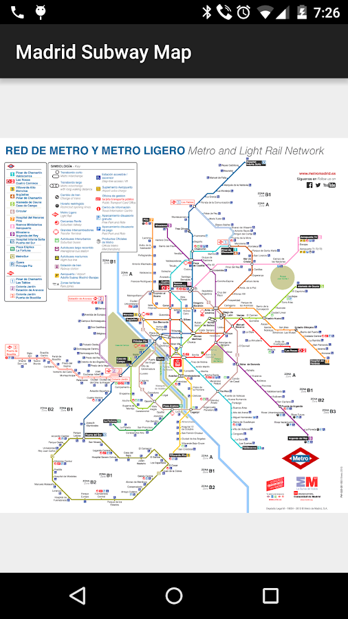 Madrid Subway Map  Android Apps on Google Play