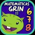 Matemáticas con Grin II 678 multiplicar fracciones icon