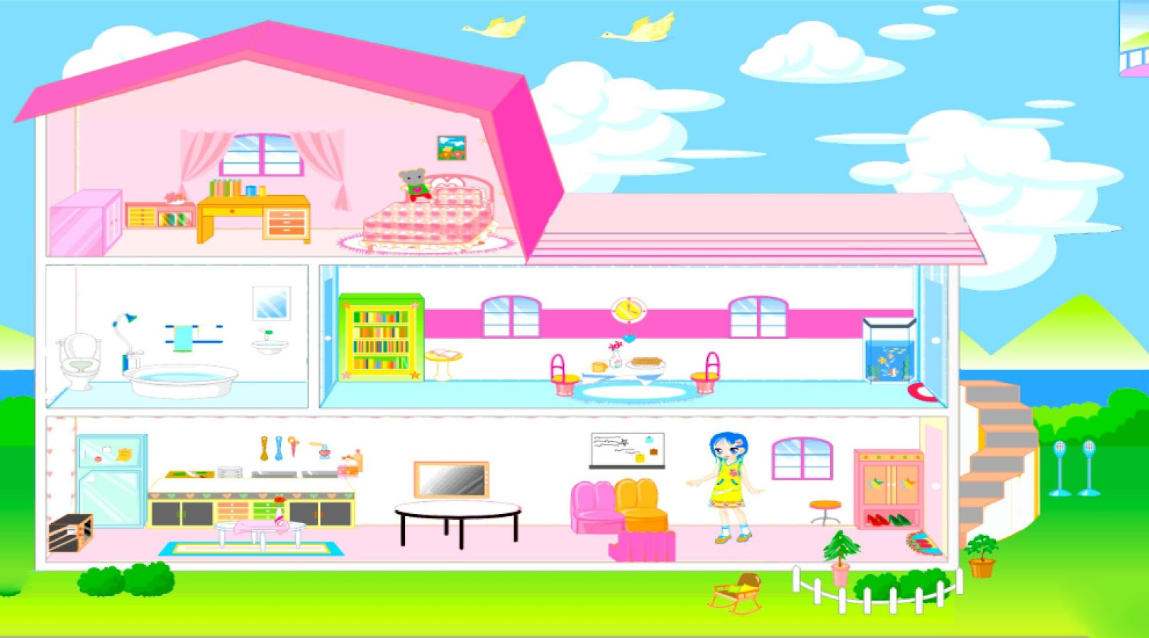 dollhouse home decor games screenshot - Home Decor Games