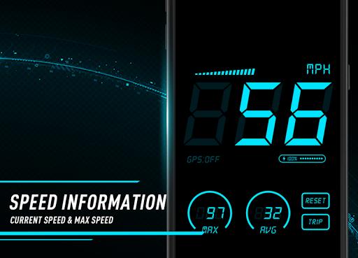 Hud Speedometer - Car Speed Limit App with GPS 1.3 screenshots 2