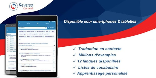 Reverso Traduction en Contexte – Vignette de la capture d'écran