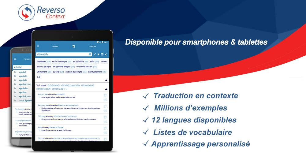 Reverso Traduction en Contexte – Capture d'écran