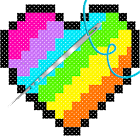 Cross Stitch - Adult Coloring By Number Book Pages icon