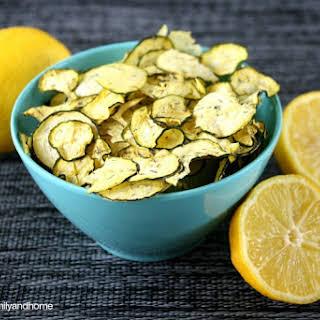 Lemon Dill Zucchini Chips (Raw, Vegan, Gluten-Free, Paleo-Friendly).