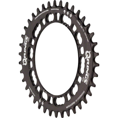 Rotor QCX1 110 x 5 BCD Three Oval Position Chainring for 1x Drivetrains