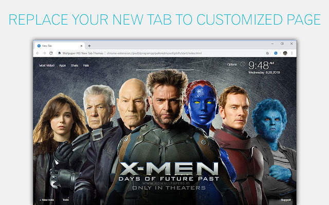 Marvel X Men Wallpaper HD Custom New Tab
