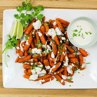 Indian Spiced Carrots with Curry Sauce.