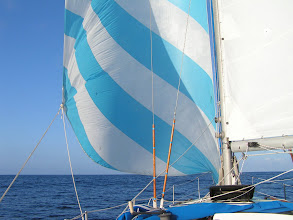 Photo: Дрифтер обеспечил нас скоростью в 3-4 узла при ветре 1-2 балла/ Drifter gave us 3-4 kts in force 2 winds