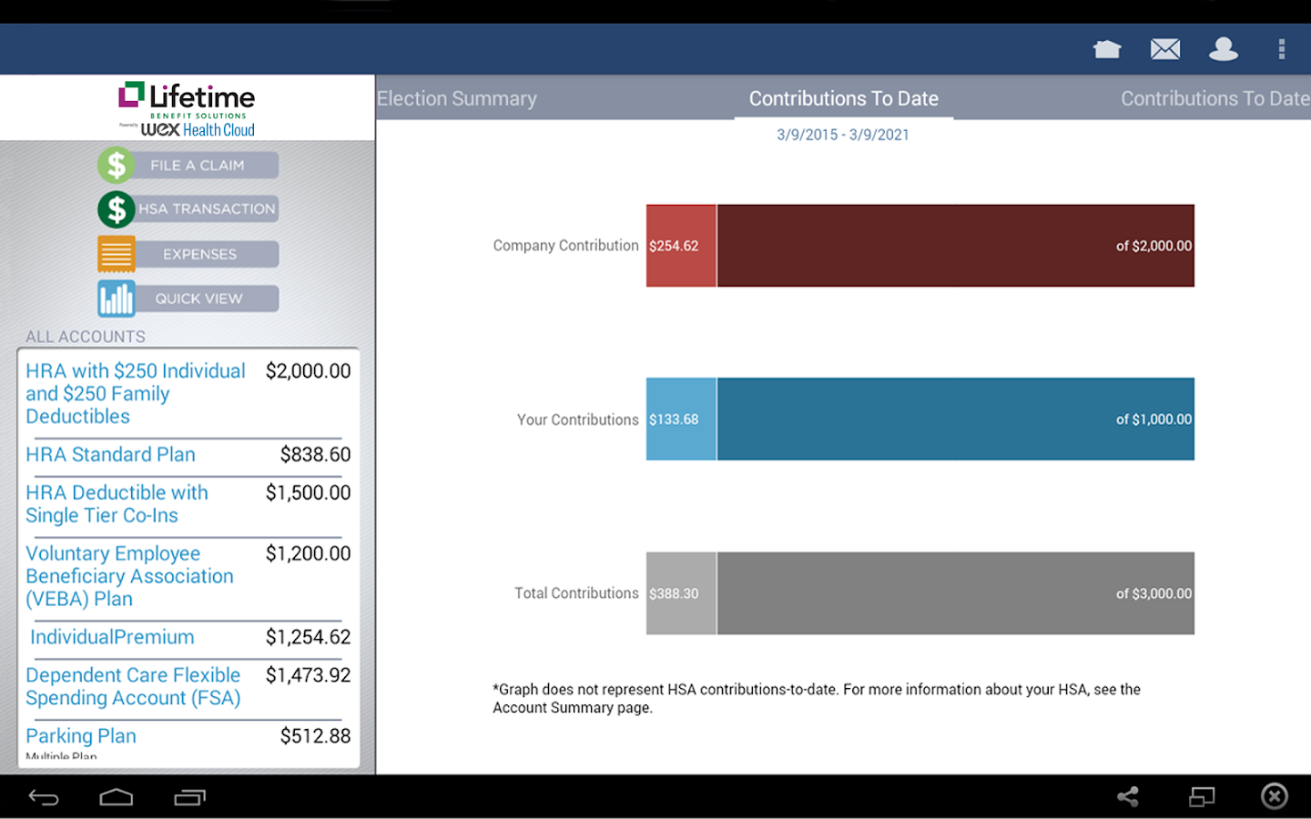 LBS Health Spending App- screenshot