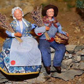 Santons - La lavande by Gérard CHATENET - Public Holidays Christmas