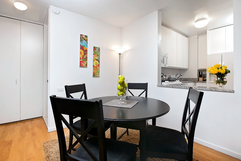 Dining space at Brooklyn apartment