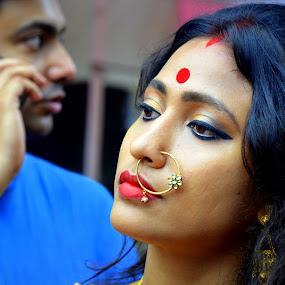 Kajal Nayana Harini  by Santanu Goswami - People Portraits of Women